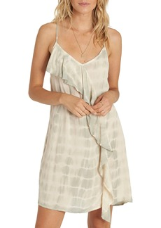 Billabong Glass Water Tie Dye Ruffle Dress
