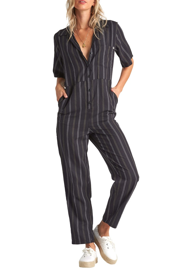 Billabong Hit the Highway Straight Leg Jumpsuit