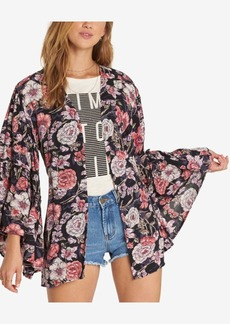 Billabong Juniors' All Flored Bell-Sleeve Kimono
