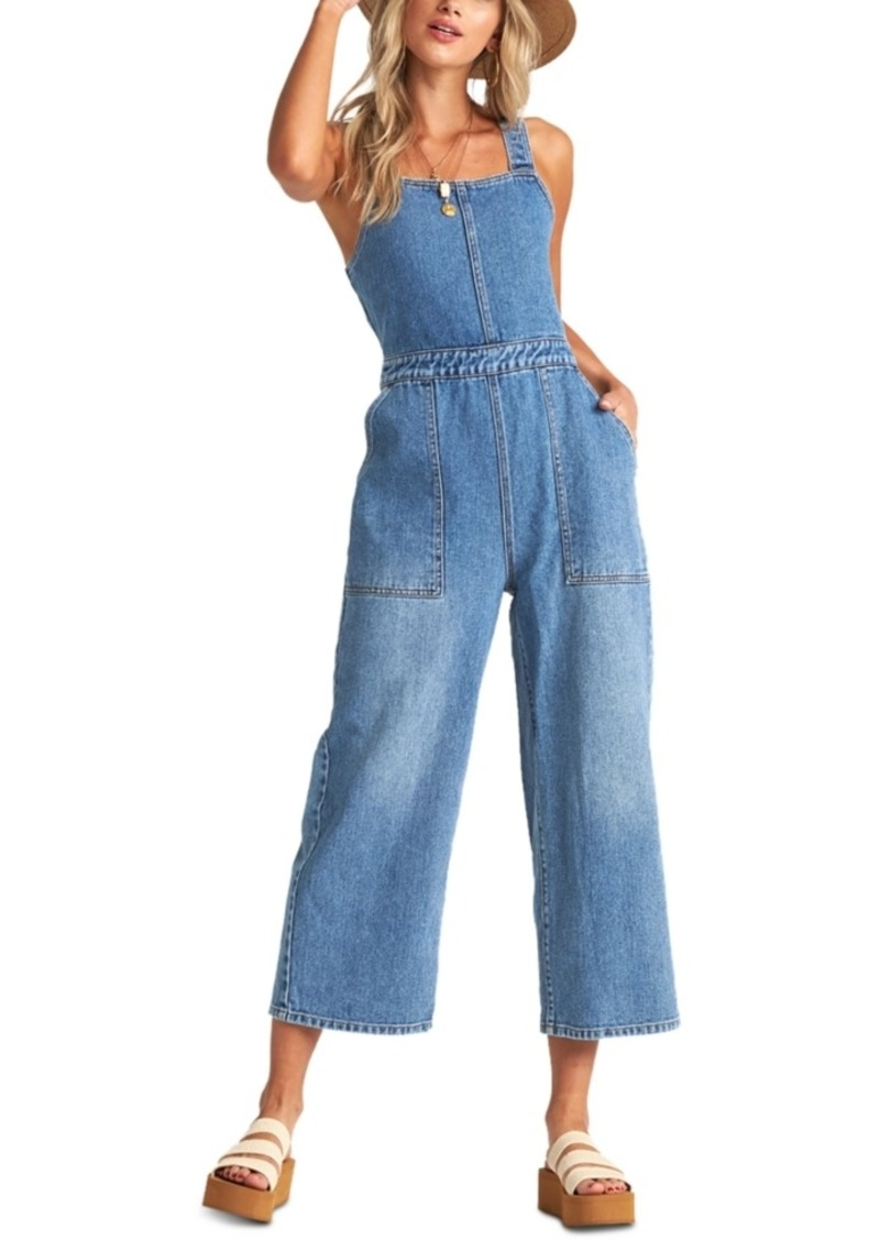 Billabong Juniors' Ball In Denim Overalls