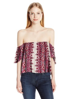 Billabong Junior's Best Way Off The Shoulder Woven Top