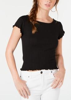 Billabong Juniors' Cotton Ruffled T-Shirt