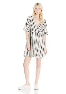 Billabong Junior's Dolly Flutter Sleeve Woven Dress  XS