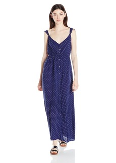 Billabong Junior's First Dreamer Ruffle Maxi Dress Starry Night