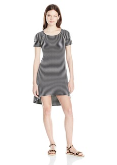 Billabong Junior's Get It Rib Knit Tee Dress Starry Night M