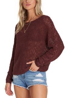 Billabong Juniors' Lace-Up Sleeve Sweater