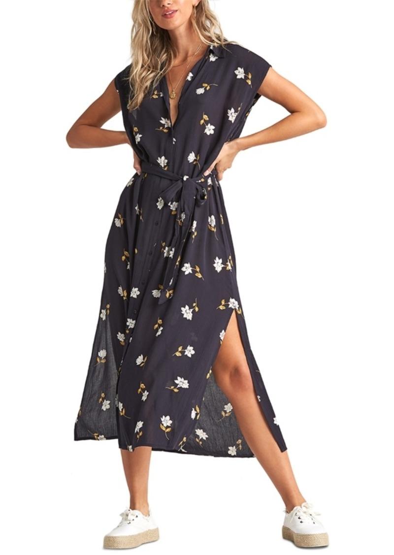 Billabong Juniors' Little Flirt Floral-Print Midi Dress