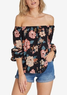 Billabong Juniors' Mi Amore Off-The-Shoulder Top