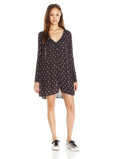Billabong Juniors Moongazer Printed Button Down Swing Dress  S