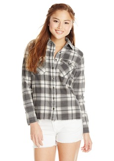 Billabong Junior's Out Of Bounds Woven Flannel Plaid Shirt