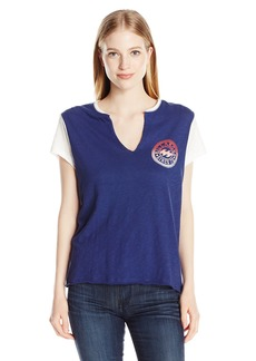 Billabong Junior's Over Grown Loose Fit Knit Crew Tee Starry Night