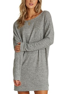Billabong Juniors' Reset Button Cutout Sweatshirt Dress