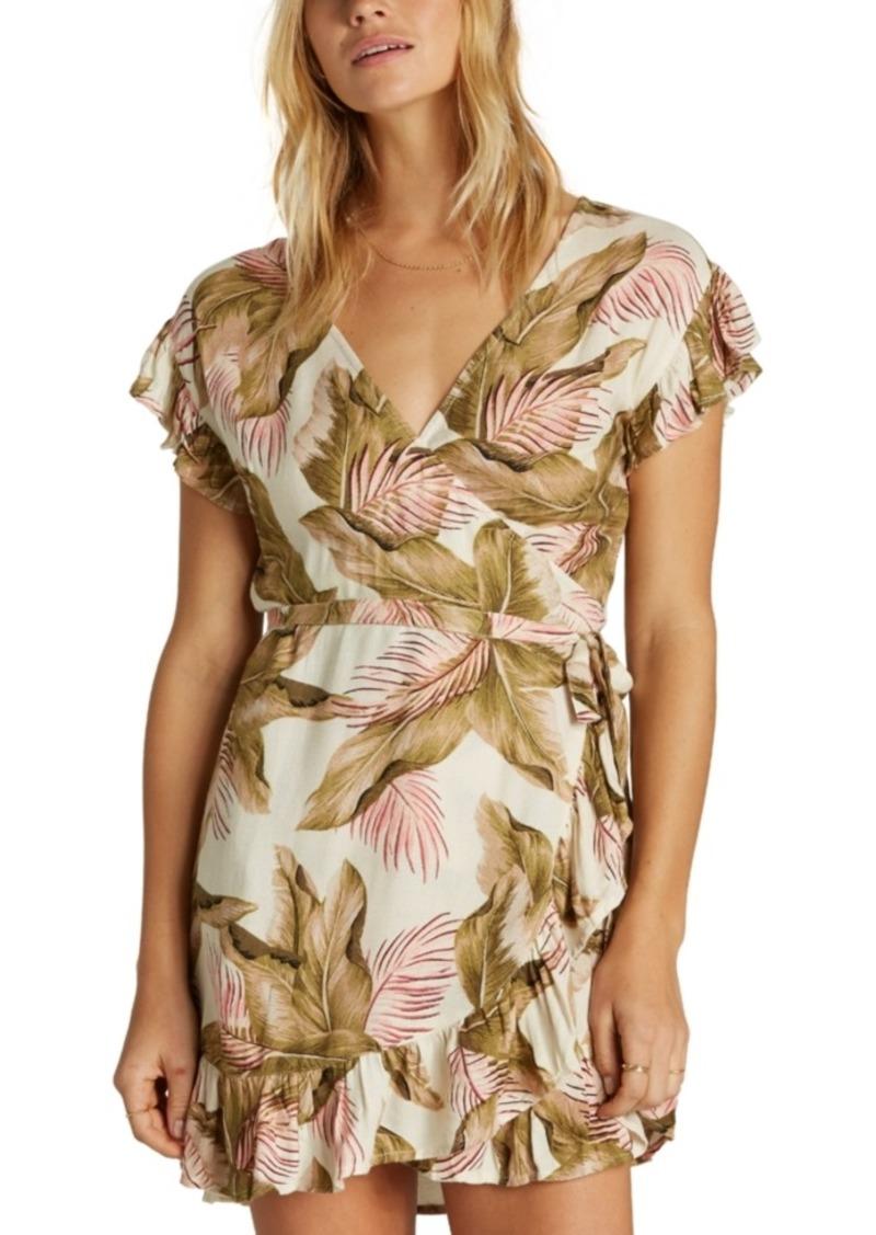 Billabong Juniors' Ruffled Wrap Dress