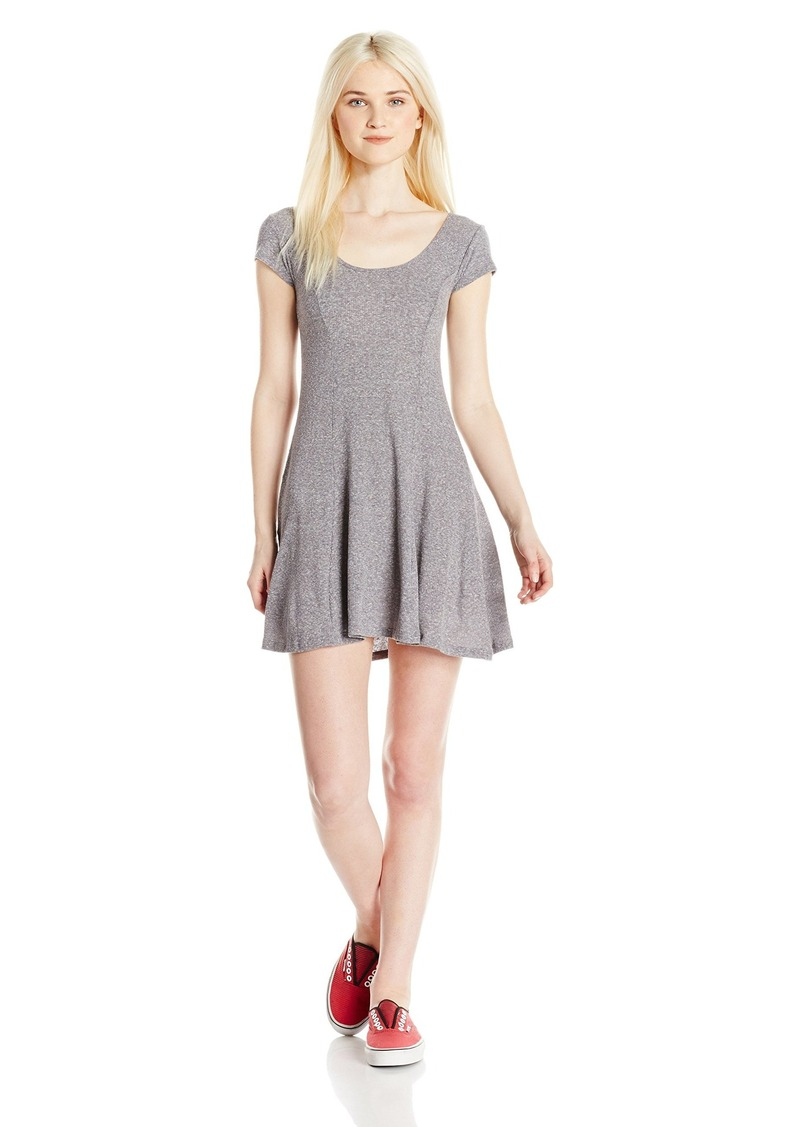 Billabong Junior's Same Love Rib Knit Short Skater Dress