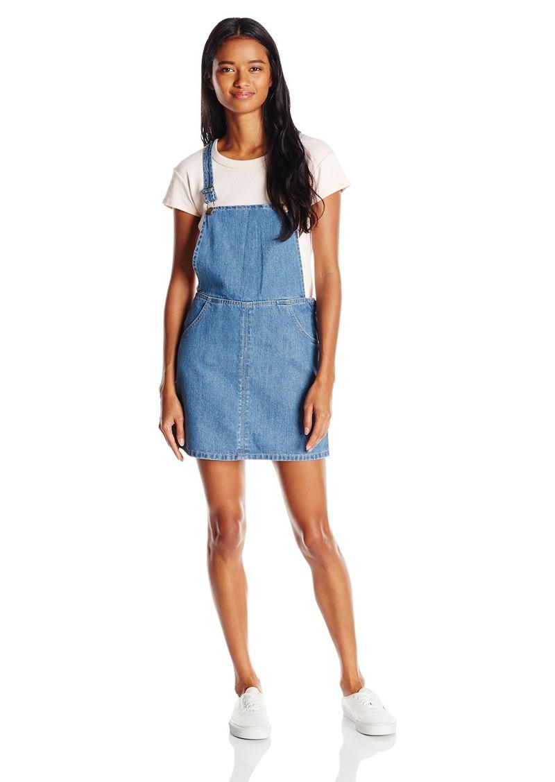 billabong billabong juniors saturdaze denim overall skirt