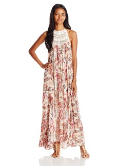 Billabong Juniors Shine on Printed Maxi Dress with Open Back