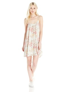 Billabong Junior's Shining Sun Woven Racer Back Dress  M