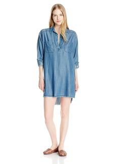 Billabong Junior's Wandering Blues Shirt Dress  M
