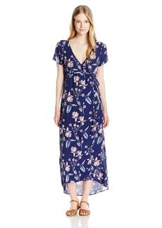 Billabong Junior's Wrap Me up Midi Length Woven Wrap Dress  XS