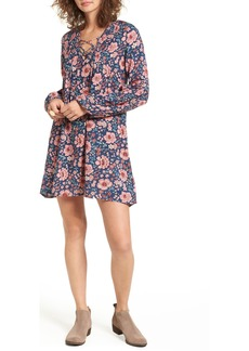 Billabong Just Like Us Lace-Up Shift Dress