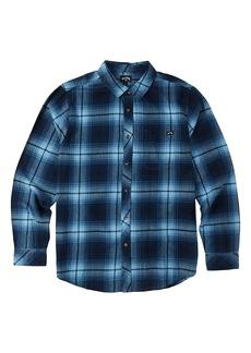 Billabong Kids' Coastline Cotton Flannel Button-Up Shirt (Big Boy)