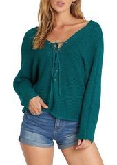Billabong Lace-Up Sweater