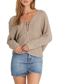 Billabong Lace-Up Sweater