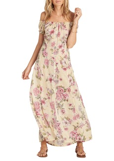 Billabong Linger Here Off the Shoulder Maxi Dress