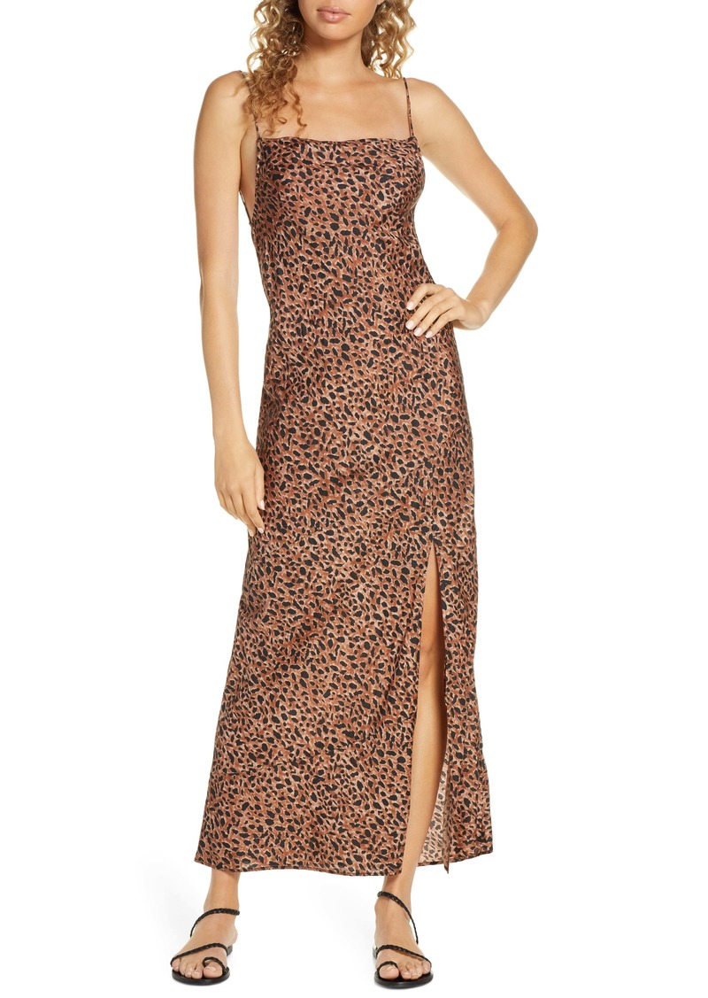Billabong Love Bias Leopard Print Cover-Up Maxi Dress