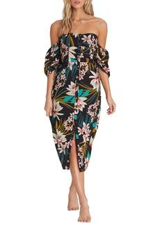 Billabong Love Tight Off the Shoulder Midi Dress