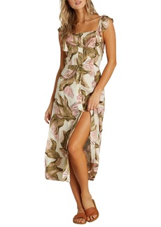 Billabong Love Tripper Ruffle Trim Midi Dress