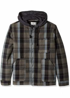Billabong Men's Baja Sherpa Hooded Flannel Shirt