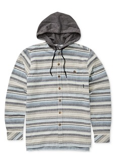Billabong Men's Baja Stretch Stripe Hooded Flannel Shirt