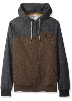 Billabong Men's Balance Halfzip Fleece Pullover Hoody with Chest Pocket  X-Large