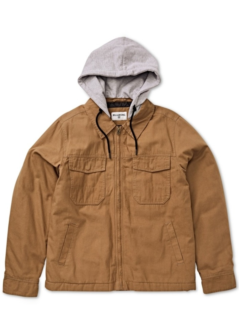 Billabong Men's Barlow Twill Hooded Jacket