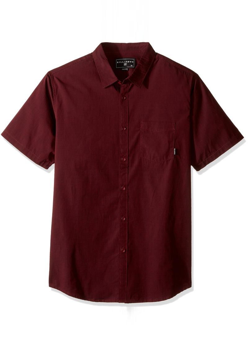 Billabong Men's Branded Short Sleeve Woven Shirt  XL