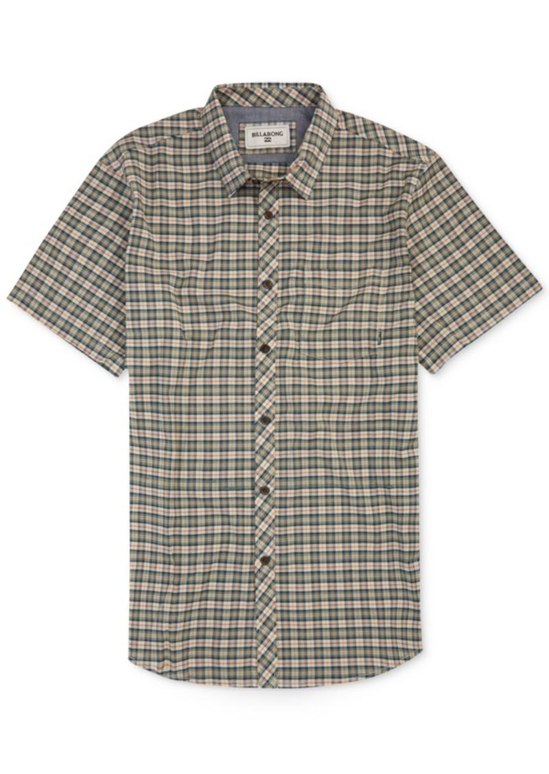 Billabong Men's Check-Print Shirt