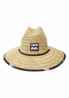 Billabong Men's Classic Printed Straw Lifeguard Hat  One