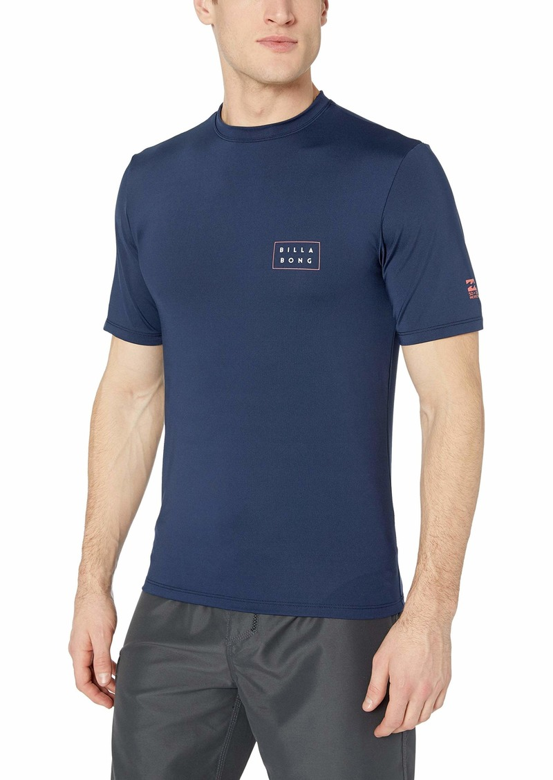 Billabong Men's Die Cut Loose Fit Short Sleeve Rashguard  S