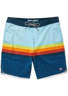"Billabong Men's Fifty 50 Stripe Geo-Print 19"" Board Shorts"