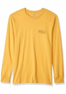 Billabong Men's Long Sleeve T-Shirts Trademark LS Gold 2XL