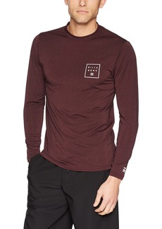 Billabong Men's Stacked Loose Fit Long Sleeve Rashguard  XL