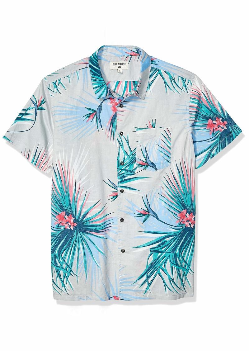 Billabong Men's Sundays Floral Short Sleeve Woven Shirt  XL