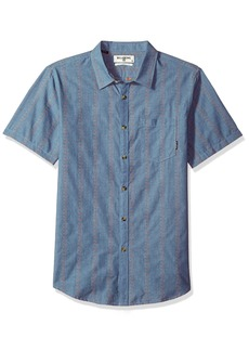 Billabong Men's Sundays Jacquard Short Sleeve Shirt