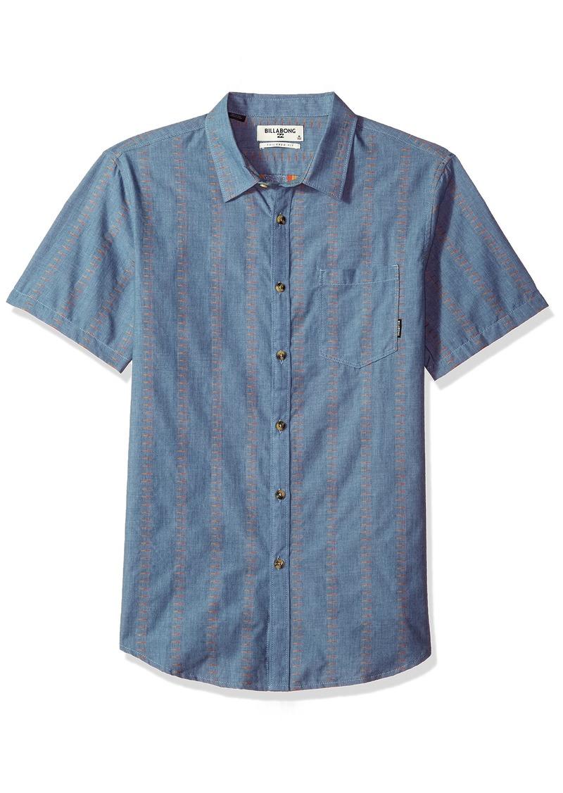 Billabong Men's Sundays Jacquard Short Sleeve Shirt
