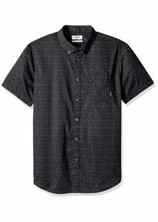 Billabong Men's Sundays Mini Short Sleeve Woven Shirt  M