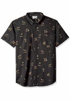 Billabong Men's Sundays Mini Short Sleeve Woven Shirt  L