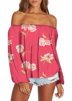Billabong Mi Amore Floral Off the Shoulder Top