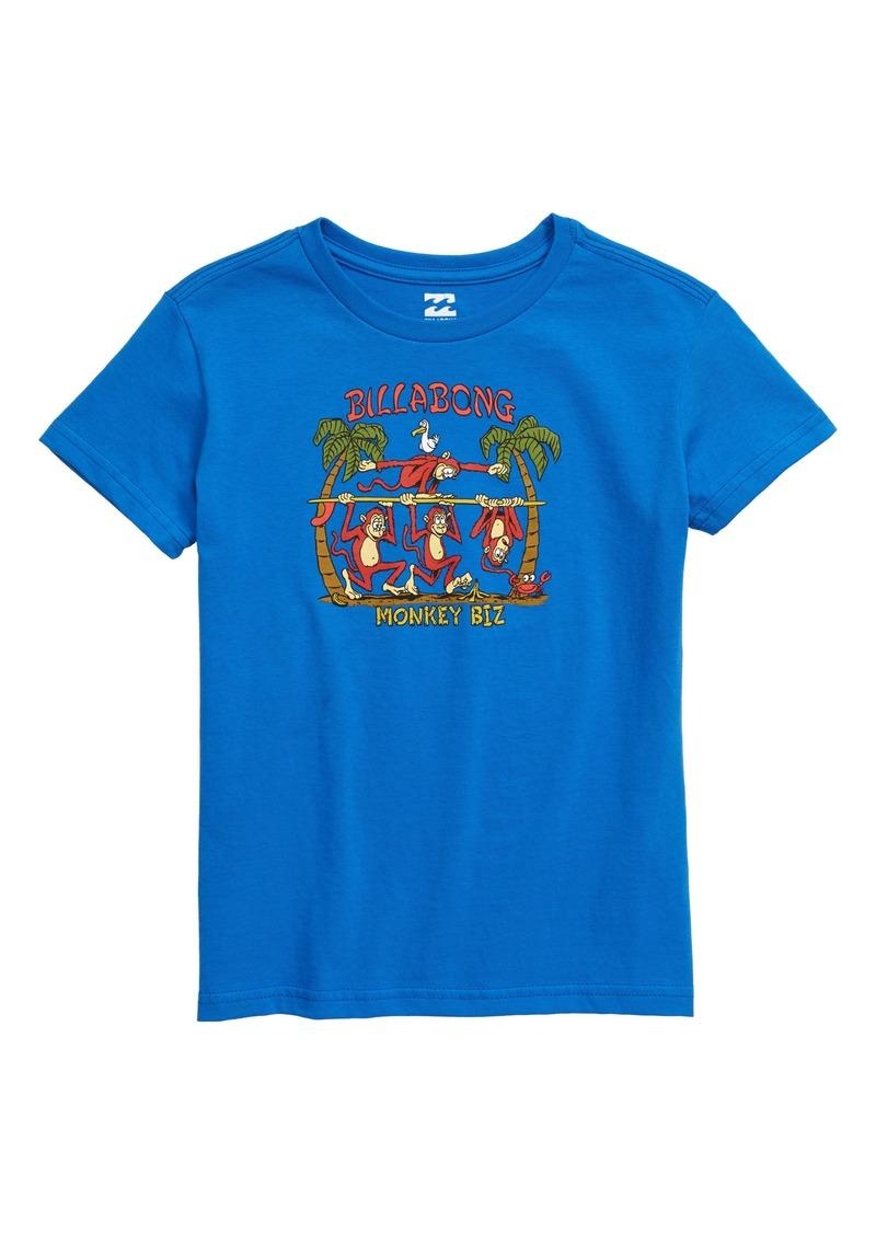 Billabong Monkey Biz Graphic T-Shirt (Toddler Boys & Little Boys)