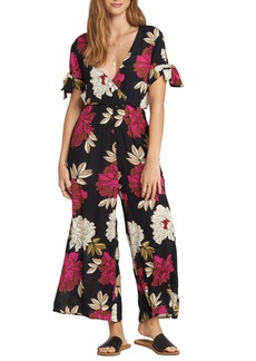 Billabong Night Conjurer Floral Print Jumpsuit
